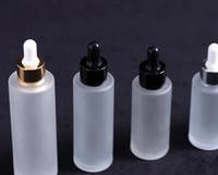 100мл матовое стекло капельницы бутылки плоские плеча косметический парфюм сыворотки фантазии бутылки эфирного масла электронной жидкости с золотой серебряной крышкой обычая
