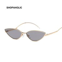Cat Eye Vintage Brand Designer Luxury Gold Mirror Sunglasses...