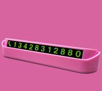 Numéro de téléphone de signe temporaire de stationnement temporaire de voiture, plaque de numéro de téléphone de téléphone portable de voiture créative nouveaux produits de décoration de voiture 130X35X25mm