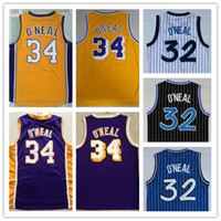 ca3e2ccad35 New Arrival. Free Shipping Cheap ancient Jerseys Stitched Mesh 32 O neal  Embroidery Basketball Jersey  34 Shaquille ...