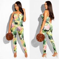Floral Print Sexy Rompers Womens Jumpsuit Retro Strapless Sp...