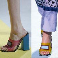 PVC pele de cobra sandálias de salto alto mulas Slides mulheres sandálias de couro genuíno Sliders chinelo sapatos extravagantes 6 cores do tamanho 34-42