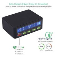 USB Quick Charger 40W 5- Port LED Display Quick Charge 3. 0 Fa...