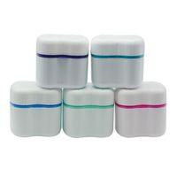 Dentier Box Retenue Invisalign bain avec panier dentaire dentier Boîtes de rangement Nettoyage des dents Case dentier conteneur 6 couleurs DBC BH2642