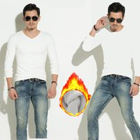 도매 가을 겨울 남자의 열 속옷 긴 소매 꽉 T 셔츠 플러스 벨벳 두꺼운 따뜻한 슬림 셔츠 솔리드 탑 플러스 사이즈 티셔츠