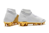 Chaussures de football originales en or blanc Mercurial Superfly VI Chaussures de football Neymar FG Ronaldo Elite Crampons de football Phantom VSN Elite DF