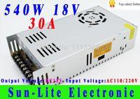 Freeshipping tek çıkış anahtarlama güç kaynağı 18 V 30A 540 W Elektrik Ekipmanları Malzemeleri Sürücü Endüstriyel SMPS Monitör trafo