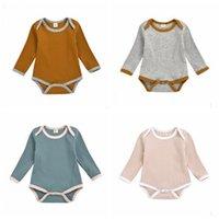 In Baby-Long Sleeve Jumpsuits Jungen-Mädchen-Pit-Dreieck-Spielanzug Kinder beiläufige Süßigkeit-Farben-Bodys Kinder Boutique Kleidung 4 Farben ZYQA467