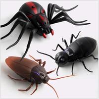 Infrarot-Fernbedienung RC Insekten Schabe Spinne ant RC Tiere Terrifying Unfug Spielzeug-lustige Neuheit Geschenk MX200414 Trick