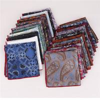 2019 Herrenanzug Tasche Handtuch hoher Dichte Seide kleines Quadrat mit Schal Polyester Quadrat neuen Stil Taschentuch Krawatten Zubehör