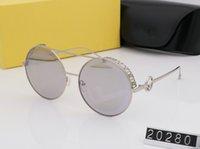 bd19679d2 Designer de óculos de sol de luxo 2019 marca redonda designer de óculos de  sol para