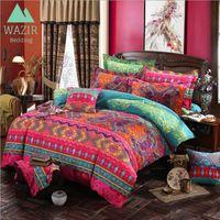Edredon Bohemian Style ethnique Literie Ensemble Twin Queen King King Couvre Couverture Taie d'oreiller Chambre à coucher Décor Accueil Textile