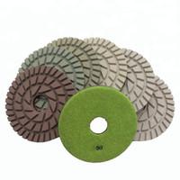 10 piezas / juego de 7 pulgadas D180mm almohadillas de pulido en seco de 7 mm de espesor de disco abrasivo Resina Pads para hormigón y terrazo Suelo