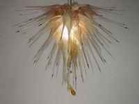 Art Modern Chandelier Luz Chihuly Estilo Murano Vidro de suspensão LED para Sala de Estar Hotel Villa Decor