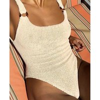 2020 New Knitted One Piece Swimsuit Female Swimwear Women Mo...