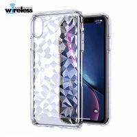 다이아몬드 질감 투명 TPU 케이스 iPhone 6 7 8 Plus X XR XS Max 소프트 케이스 samsung s9 s10 plus 케이스 커버