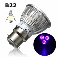 Grow Light UV Ultraviolet Purple LED Spotlight Bulb Plant Lamp for Greenhouse Hydroponics System