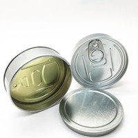 Fácil extracción de anillo de aluminio Lata 3.5Gram Canned Food PET transparente cubierta mano apretada DHL envío rápido de la hierba seca de contenedores prensa puede