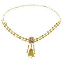 Estado de aleación de oro de almacén estadounidense con diamante Colgante Cadena de cintura Cadena de bikini Cadena de cuerpo Tendencia Accesorios para mujer Joyería de mujer Regalo