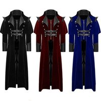 Men' s Gothic Frock Jacket Men Button Fashion Steampunk ...