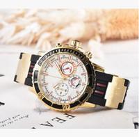 Orologio Alle Subdials Arbeit Leiseure Herren Edelstahl Quarz Armbanduhren Stoppuhr Watch TOP ReloGies für Männer Relojes Bestes Geschenk