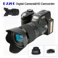 Polo Sharpshots D7200 Dijital Kamera 33 Million Piksel Otomatik Odak Profesyonel 24x Optik Yakınlaştırma SLR Video ile Üç Lens + Perakende Kutusu