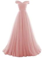 2019 neue lange a-line tulle prom formale abendkleid formale prom party kleider 100% echtes foto qc1344