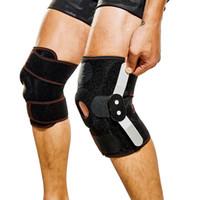 Plaque de genou Sport Double acier Knepad one Taille Taille du genou réglable Support de soutien Strong Support Réhabilitation Livraison gratuite
