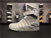 2019 Air Mag Back To The Future Glow In The Dark Grey-Stiefel-Turnschuhe Marty McFly Led Schuh-Schwarz-Mag Marty McFlys Turnschuhe mit Kasten