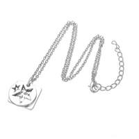 Уникальный дизайн посеребренные персонализированные тег следовать вашей мечты доверяйте ваше сердце звезда ожерелье ювелирные изделия