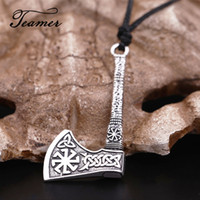 Teamer Nordic Vikings Necklace Rune Axe Amulet Compass Scand...