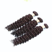 En iyi satış Saç Paketler Derin Dalga İnsan Saç Dokuma 100g 3adet Lot İşlenmemiş derin kıvırcık saç örgü demetleri, Ücretsiz Kargo