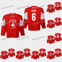 Suiza Yannick Weber 2019 IIHF Campeonato Mundial Jersey Vincent Praplan Nico Hischier Raphael Díaz Reto Berra Kevin Fiala Lukas Frick