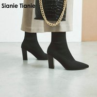 Sianie Tianie 2019 spring autumn pointed toe woman shoes blo...