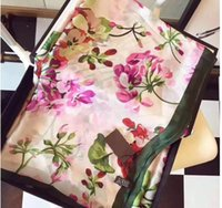 Luxury Brand Silk scarf for Women 2019 Spring Designer Flora...