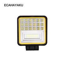 Ecahayaku 4 Zoll 126W 6-Reihe LED-Arbeitslichtstange mit gelbem DRL-Licht 12 V Off Road LED-Bar 4x4 Fahren Foglamp SUV-Truck