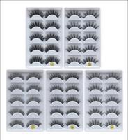 Dropshipping recenti trucco 3d visone ciglia naturali Spesso cigli falsi Mink Lashes occhio compongono Extension Ciglia finte ciglia
