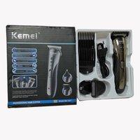 Kemei 3 em 1 Cabelo Trimmer Electric Shaver Shaving Máquina Set elétrica recarregável Nose Hair Clipper Profissional Elétrica Navalha Beard