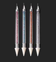 Double-headed Nail Art Pen polonaise Dotting Stylos Drill Stylo ongles Outils de bricolage polonais Nail Art Pen KKA7785 pointe du foret