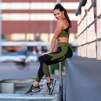 2020 donne di nuovo disegno senza giunte di yoga top reggiseno pantaloni SetsKnit elastico Jogger fitness Leggings Felpa Sport Wear