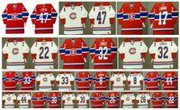 Vintage Montreal Canadiens Jersey 22 Steve Shutt 33 Patrick Roy 8 RISEBROUGH 26 Mats Näslund 44 Stéphane Richer 30 Chris NILAN Hockey su misura