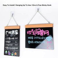 A4 DIY Erasable Chalkboard Blackboard Double Sided Wooden Do...