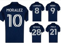 New York City 20-21 Personalizzato 8 Lammard 7 David Villa 10 Moralez 15 McNamara 21 Pirlo 22 Matartita 28 Mitrita Thai Quality Soccer Jersey