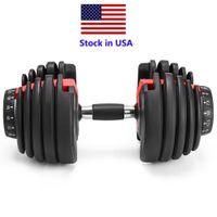 US-Aktien, Gewicht Einstellbare Hantel 5-52.5lbs Fitness Workouts Dumbbells Ihre Stärke, Ton und bauen Sie Ihre Muskeln
