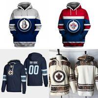 Winnipeg Jets Hoodies Jersey para hombre 26 Blake Wheeler 29 Patrik Laine 30 Laurent Brossoit 33 Dustin Byfuglien 57 Tyler Myers Camisetas de hockey