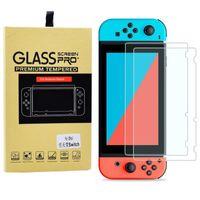 2PCS Protetores de tela Film 0,3 milímetros 9H HD vidro temperado Film Para Nintend switch de console NS NX para Nintendo Mudar Acessórios