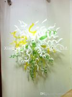 Art moderne décor de la main en verre mur de mur lampes murales fleur murano en verre mur ardent décoratif