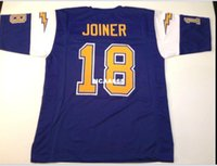 Men Charlie Joiner #18 Sewn Stitched RETRO JERSEY Full embro...