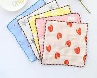 القطن منشفة الشاش طفل مربع الأولاد المطبوعة منشفة لعاب الشاش مزدوج رقيق منديل صغير مناشف الطفل منديل