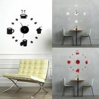 1pcs bricolage 3D Sticker Horloge murale Art Stickers Décoration Miroirs Grand salon Art Design murales autocollants en vinyle